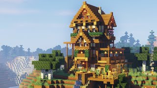 EPIC WOODEN HOUSE TUTORIAL (Minecraft wooden house tutorial)