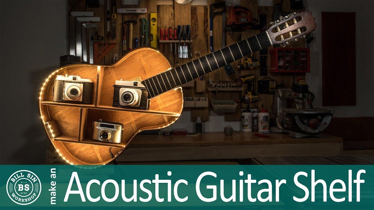 Make Guitar Shelf – How to make an acoustic Guitar shelf