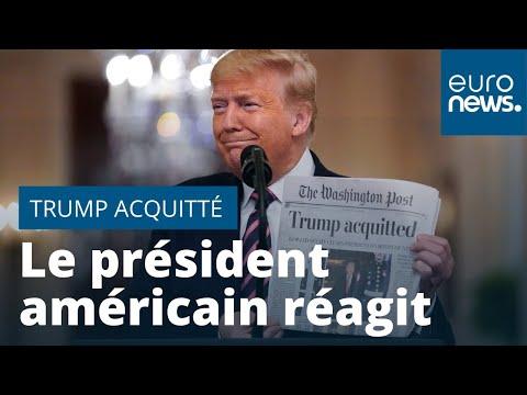 Acquittement : Donald Trump remercie ses partisans et fustige ses opposants