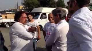 Il sopralluogo di Gianni Alemanno al campo nomadi Salviati 2 a Tor Sapienza. A Roma è #emergenzarom