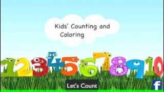 Kids Counting and Coloring YouTube video