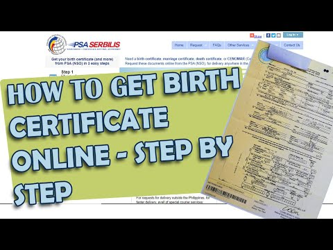 HOW TO GET BIRTH CERTIFICATE / PSA / NSO ONLINE - STEP BY STEP (DELIVER DOOR TO DOOR)