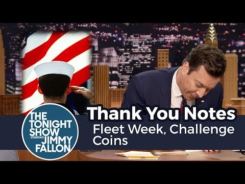 Thank You Notes: Fleet Week, Challenge Coins