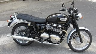 9. 2014 Triumph Bonneville T100 Start up and Sound