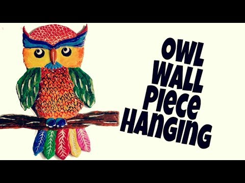 DIY Easy and Quick Owl Wall Hanging