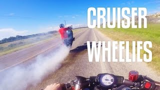 10. Wheelie Practice on Yamaha Bolt