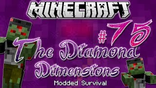 """""""EPIC ZOMBIE HORDE""""   Diamond Dimensions Modded Survival #75   Minecraft"""