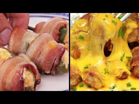 Bacon wrapped appetizers for the Super Bowl