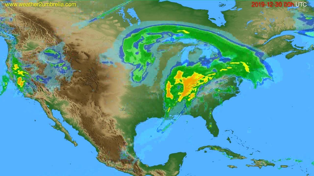 Radar forecast USA & Canada // modelrun: 12h UTC 2019-12-29
