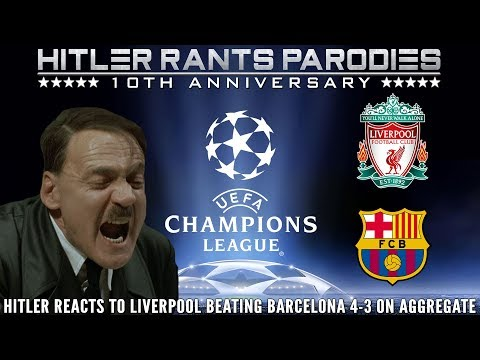 Hitler Reacts To Liverpool Beating Barcelona 4-3 On Aggregate
