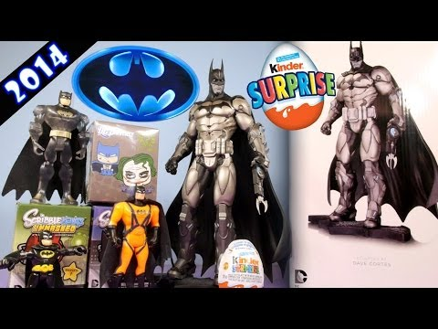Batman Arkham Asylum Armored Statue Unboxing + DC Comics Toys Surprise Packs + Kinder Surprise Egg