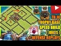 Clash Of Clans - Town Hall 10 (TH10) Trophy Base with Bomb Tower + Defense Replays | ANTI 2 STAR