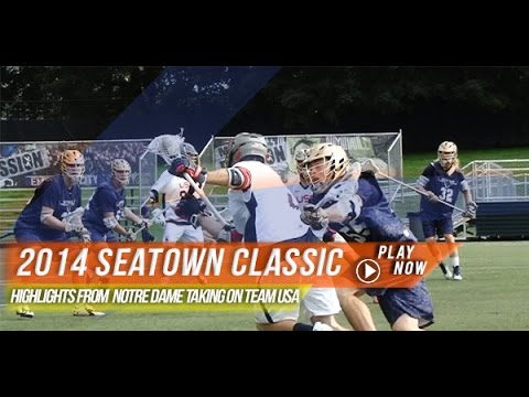 Dame - www.lax.com - At the Seatown Classic held at Starfire Sports in Washington, the Notre Dame Fighting Irish lacrosse team matched up against Team USA for a special fall ball match up, with a...