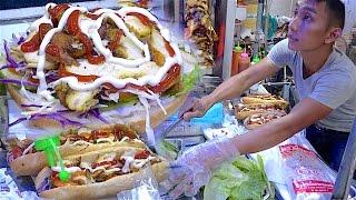 Nonton Laos Street Food   Scooter Stall Kebab Bread   Hamburger In Vientiane  Laos Near Mekong River Film Subtitle Indonesia Streaming Movie Download