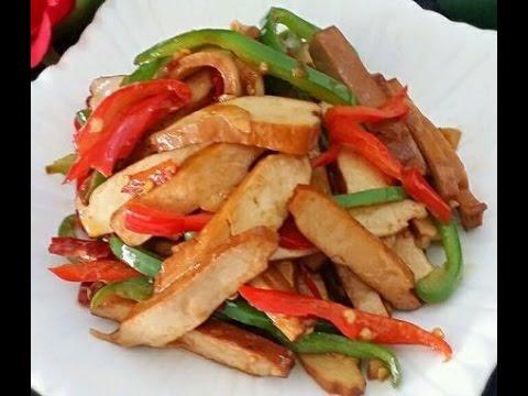 小炒豆干   十分好吃的家常菜