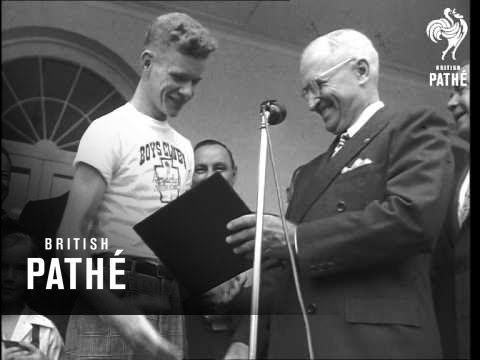 Truman At 'youth Month' (1948)
