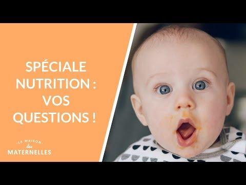 Spéciale nutrition : vos questions !  - La Maison des maternelles #LMDM