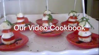 How To Make Micro Salad Caprese - Finger Food Recipe | Our Video Cookbook #99