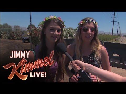 Jimmy Kimmel kollar runt vad folk tycker om påhittade band