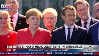 Trump BLASTS Leaders @ NATO, Tells Them They Need to Pay Their Share (FULL SPEECH)