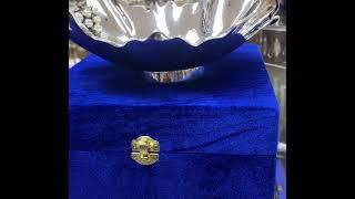 Серебряная конфетница «Виноград» глянцевая