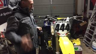 9. 2007 RMZ-450 maintenance. Engine oil/filter and coolant change. Using Amsoil Products