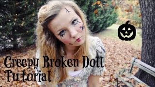 Creepy Broken Doll: Hair, Makeup, and Costume Tutorial! - YouTube