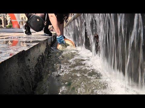 Հանրահավաքից հետո ցուցարարները մաքրում են Հանրապետության հրապարակը - DomaVideo.Ru