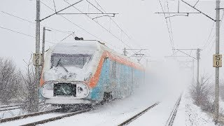 Live Train 24/7  Cab Ride - Train Driver's View in the World Railway Line in WINTER ! Best Awesome