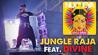 First single 'Jungle Raja' from Nucleya's latest album 'Bass Rani' feat. DIVINE (Gully Gang). This video was shot at the Bass Rani album launch along with Ganpati Visarjan celebrations 2015. #BoysFromTheNakaDownload the complete album for FREE:https://nucleya.bandcamp.com/album/bass-raniFollow the Boys from the Naka Here!!!DIVINEFacebook:  https://www.facebook.com/Divine-525074987556453/timeline/ YouTube:  https://www.youtube.com/user/jdproductionsmumbaiTwitter: https://twitter.com/viviandivine NucleyaFacebook: https://www.facebook.com/nucleyaYouTube: https://www.youtube.com/user/NucleyaProductionsTwitter: https://twitter.com/nucleya
