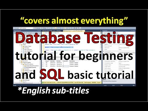 Database Testing in Software Testing | SQL Tutorial for Beginners