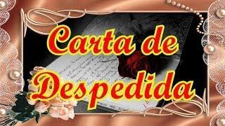 Carta De Despedida (hablado), Poemas De Amor Para Dedicar, Versos Cortos