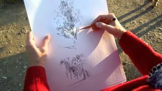 Как Научиться Рисовать Деревья Правильно Видеоурок Екатерина и Артур Крюковы