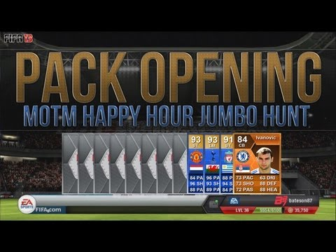 FIFA 13 Ultimate Team Pack Opening | MOTM/TOTS Happy Hour Jumbo Packs