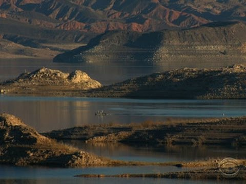 drought - Satellite photos show the Colorado River, which feeds Nevada's Lake Mead, is drying up, meaning the lake is rapidly shrinking. The lake provides water for 20...