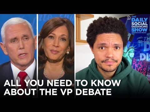 Pence's Fly and Harris's Expressions Steal The Debate   The Daily Social Distancing Show