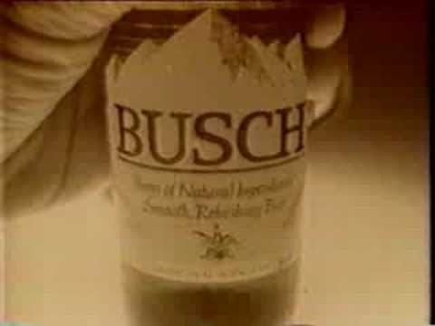 Retro Commercials: Busch Beer(Old Footage)