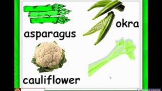 Vegetables, Cauliflower, Broccoli, Kids English Lessons