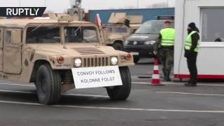 Американские джипы Humvees отправились в Польшу на учения НАТО