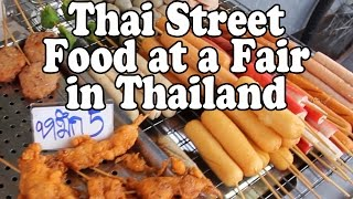 Nakhon Thai Thailand  city photo : Thai Street Food & Shopping at a Fair in Thailand. A Buddhist Festival in Nakhon Si Thammarat