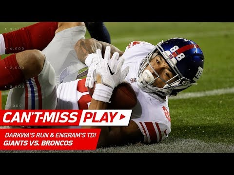 Video: Darkwa's 47-Yd Run Sets Up Manning's TD Pass to Engram! | Can't-Miss Play | NFL Wk 6 Highlights
