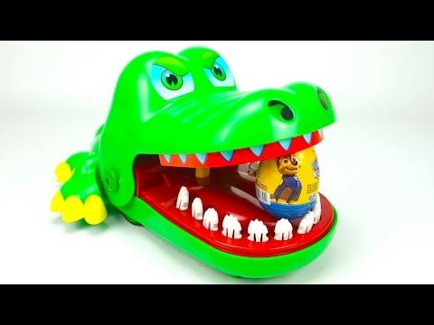 Сюрпризы и игрушка крокодил кусака - DomaVideo.Ru