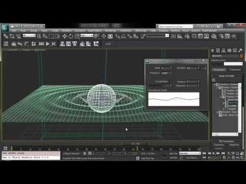 3dsmax - In this quick tip tutorial for 3ds max, we'll see how we can create a water ripple animation just using a simple space warps, animating its phase and changin...