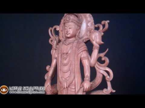 Wood Vishnu & Ananta Sesha Statue 32