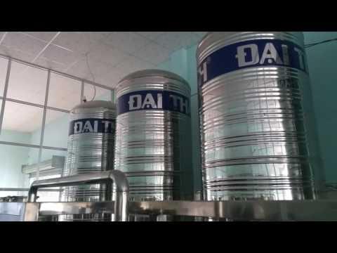 Clip Hệ thống xử lý nước tinh khiết 5.000 lit/h, chiết rót bình tự động