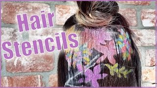 Unreal Hair Stencils by Janine Ker Hair by Seventeen Magazine