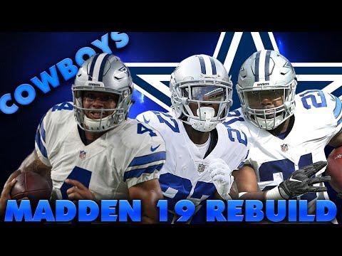 Best Rookie Quarterback Ever! Rebuilding the Dallas Cowboys| Madden 19 Realistic Franchise Rebuild