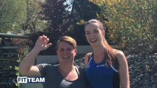 Fit Team Bodensee Trainerin Miriam und Kundin Elke