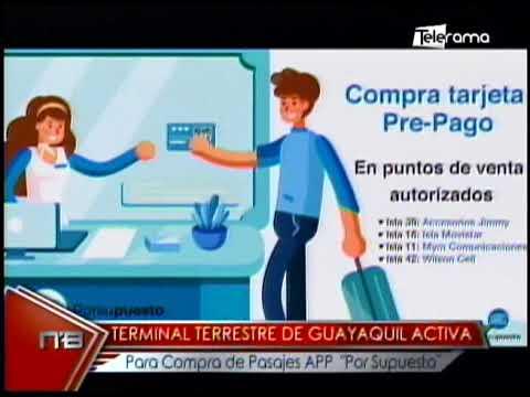 Terminal terrestre de Guayaquil activa para compra de pasajes APP Por Supuesto