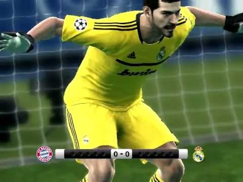 Real Madrid vs Bayer Munich Penaltis Pes 2012